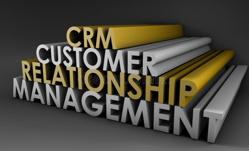 Gerência CRM do relacionamento do cliente ilustração do vetor