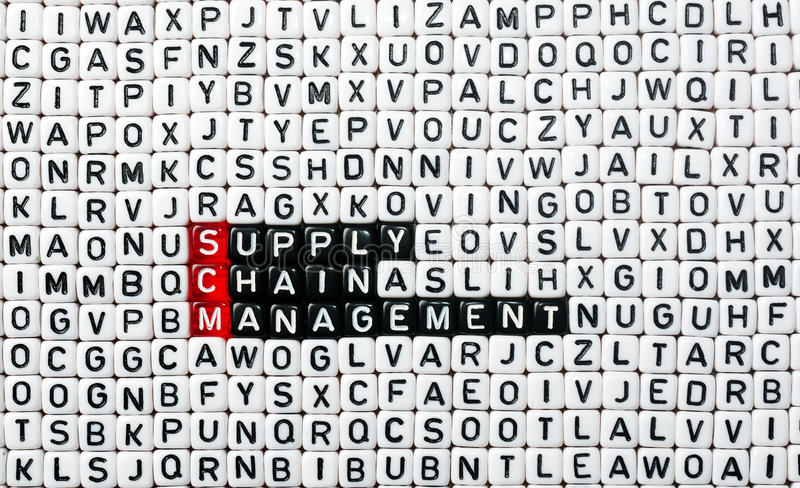 Gerência da cadeia de aprovisionamento de SCM imagens de stock