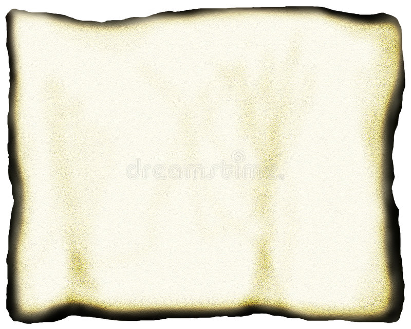 Geröstetes Papier stockfoto