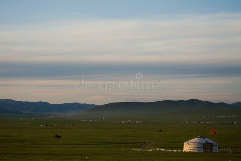 ger蒙古人干草原 免版税库存图片