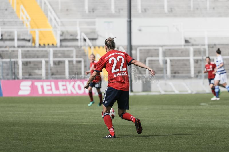 GER: DONNE DI FC BAVIERA - DONNE DI MSV DUISBURG, 09 23 2018 immagini stock