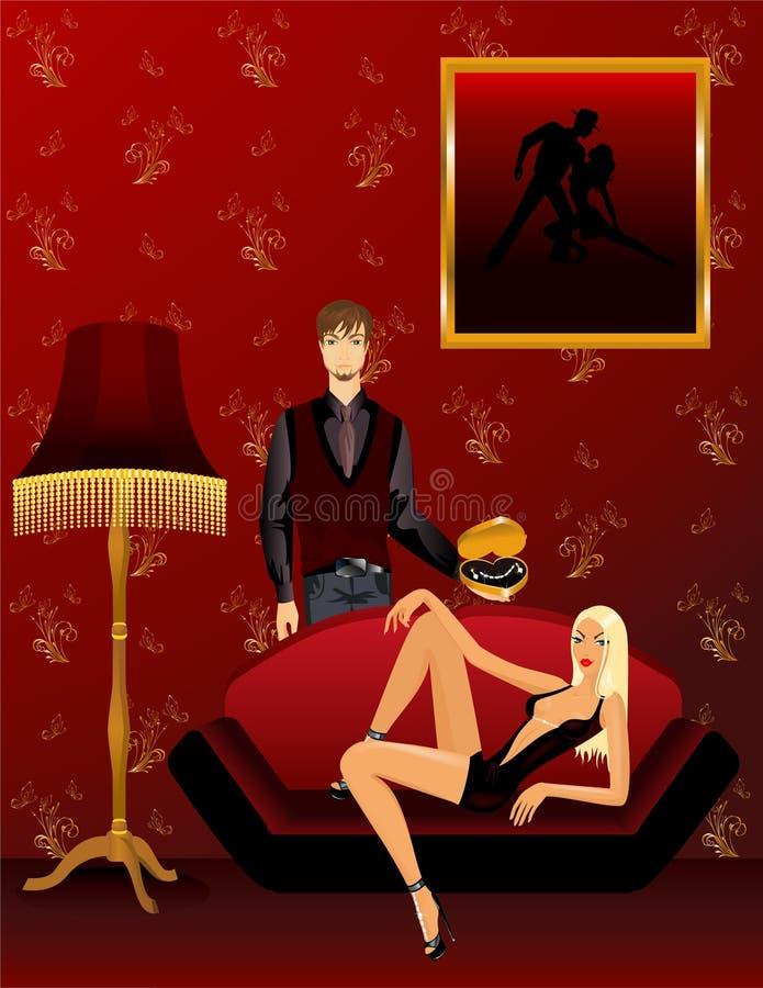 ger juvelmannen royaltyfri illustrationer