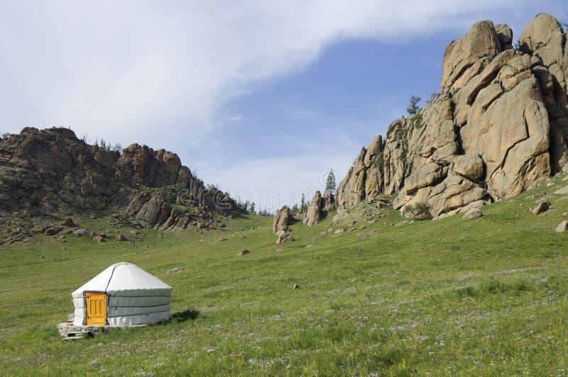 Ger mongol fotografía de archivo libre de regalías