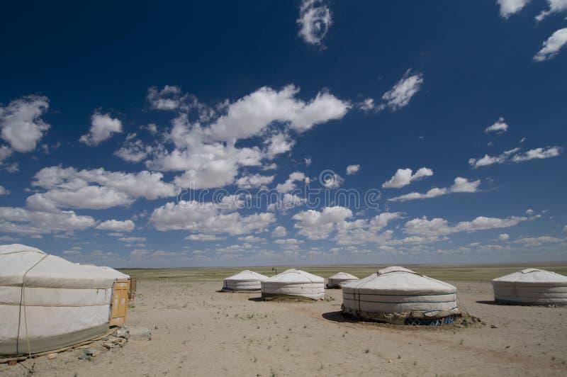 ger obozowy pustynny kurort Gobi obraz royalty free