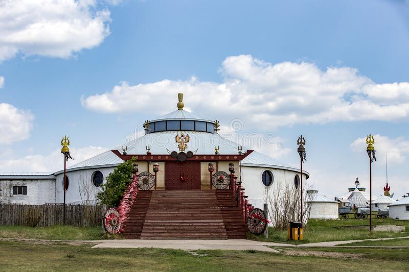 The hulunbuir ger. Ger is one of the Mongolian herdsmen house, suitable for animal husbandry production and nomadic life royalty free stock photo