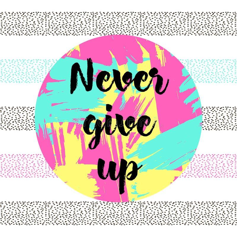 ` Ger upp aldrig `, stock illustrationer