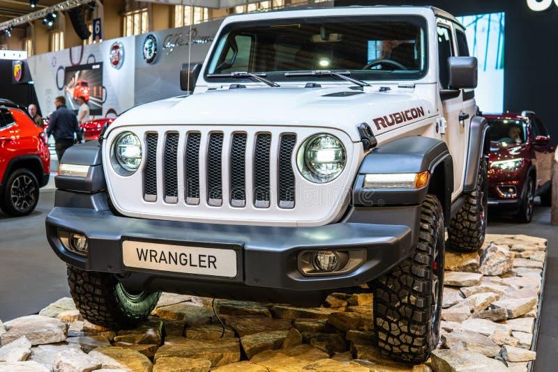 Geração de Jeep Wrangler Rubicon quarta, JL, veículo fora de estrada do quatro rodas motrizes fabricado pelo jipe foto de stock royalty free