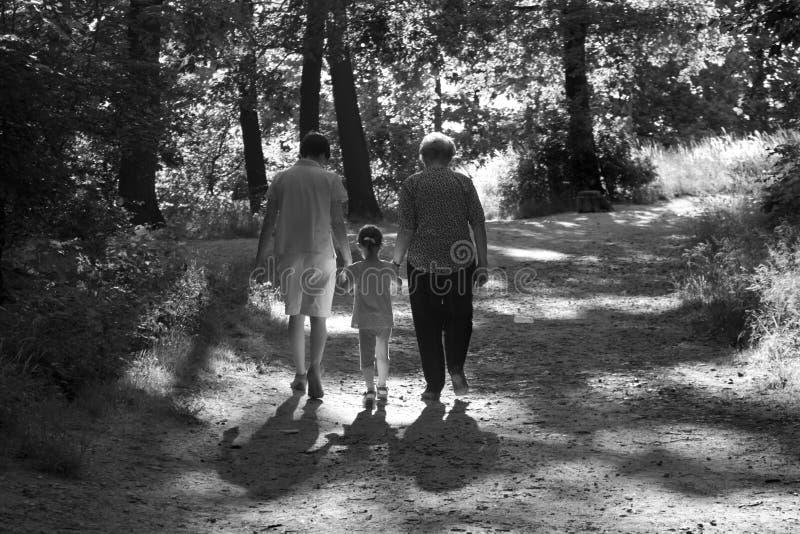 Geração na caminhada fotografia de stock royalty free