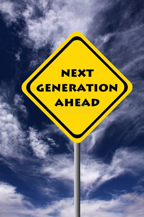 Geração seguinte ilustração stock