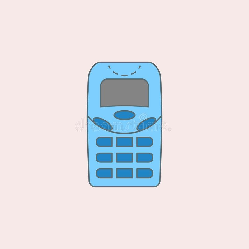 geração sem ícone do esboço do campo dos telefones da antena Elemento do ícone da geração para apps móveis do conceito e da Web G ilustração royalty free