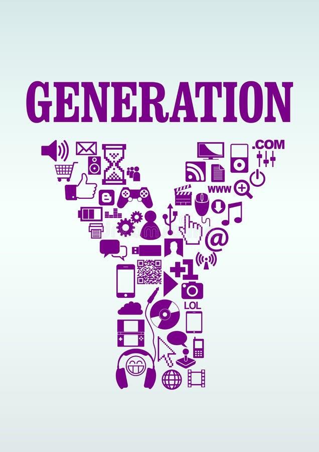 Geração Y ilustração royalty free
