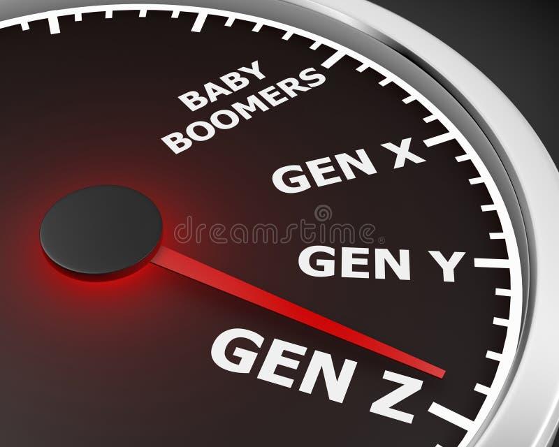 Geração Z ilustração stock