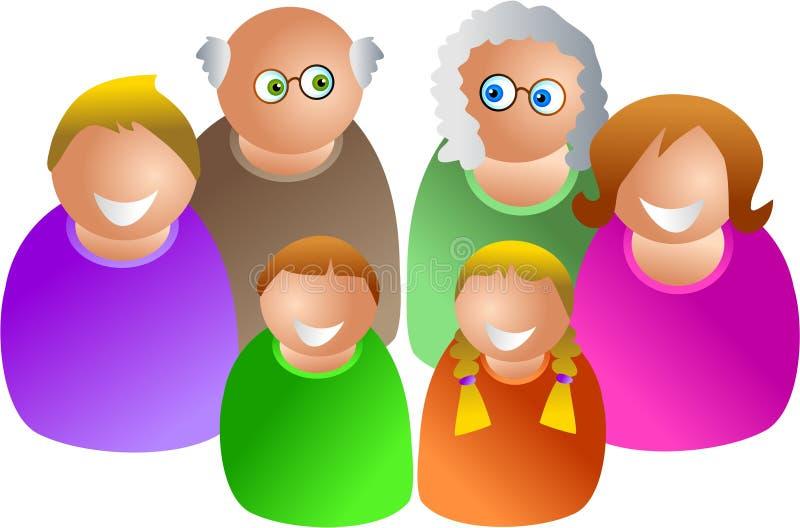 Gerações ilustração stock