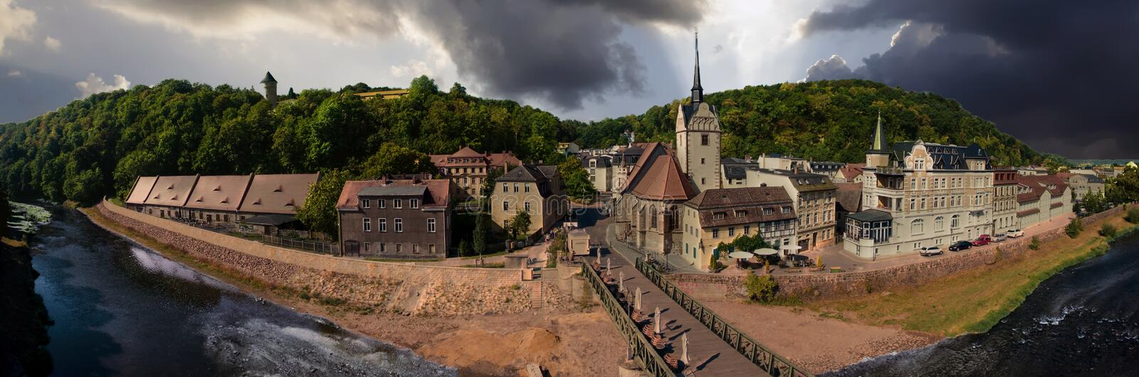 Download Gera Untermhaus Panorama Bridge Architecture Summer Stock Photo - Image: 79668352