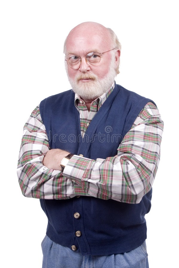 Gerade ein alter Mann stockbilder