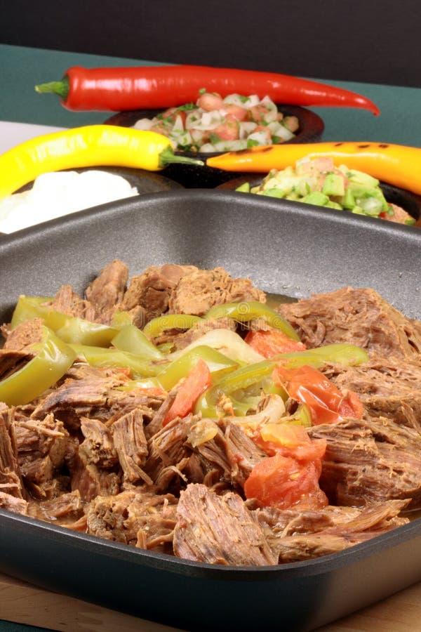 Gerade gebildetes mexikanisches Rindfleisch lizenzfreie stockfotografie