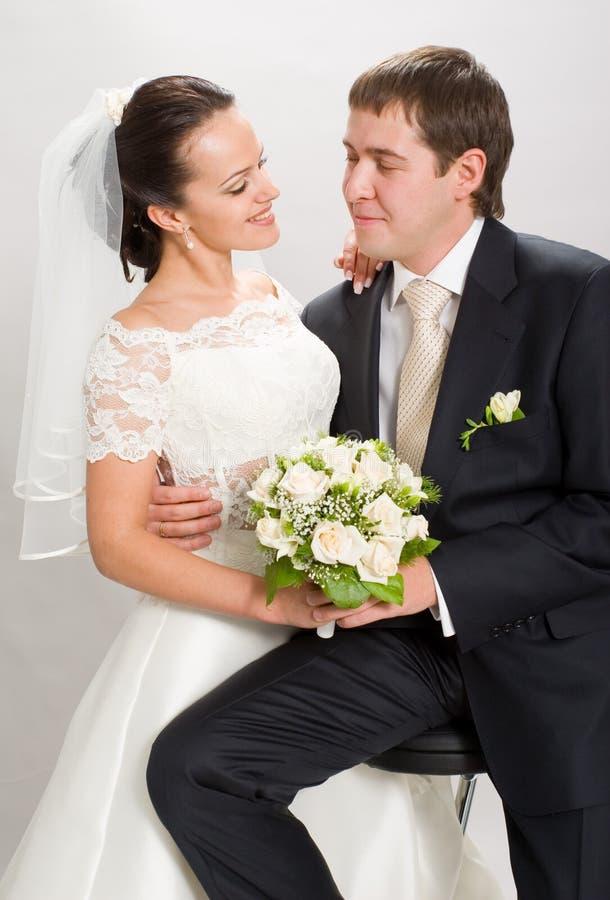 Gerade geheiratet. lizenzfreie stockfotos