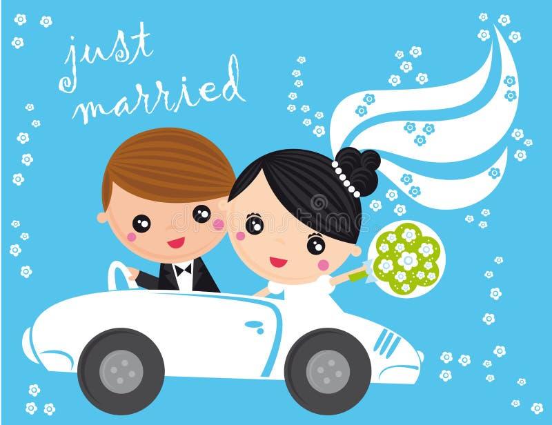 Gerade geheiratet lizenzfreie abbildung