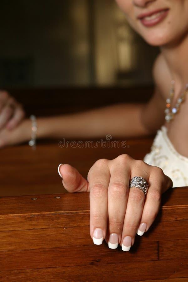 Gerade geheiratet stockfotos