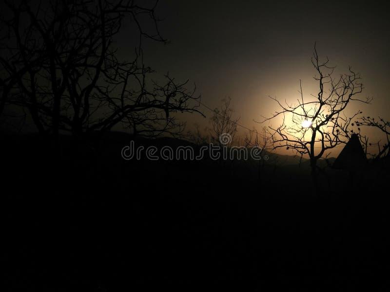 Gerade Klicken Sonnenuntergang lizenzfreie stockfotos