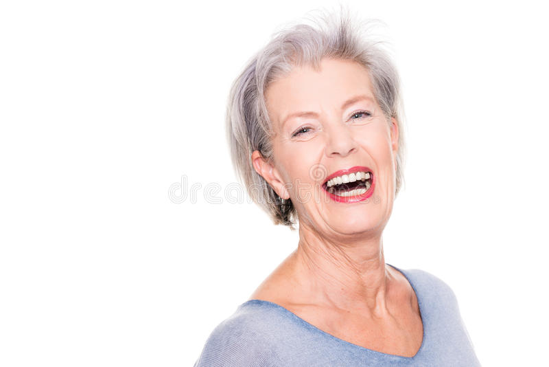 Gerade lächelnd lizenzfreie stockbilder
