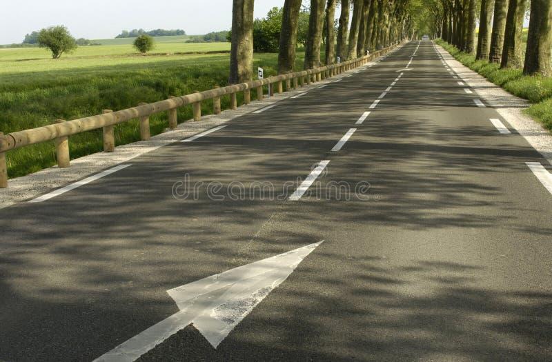 Gerade Straße lizenzfreie stockfotos