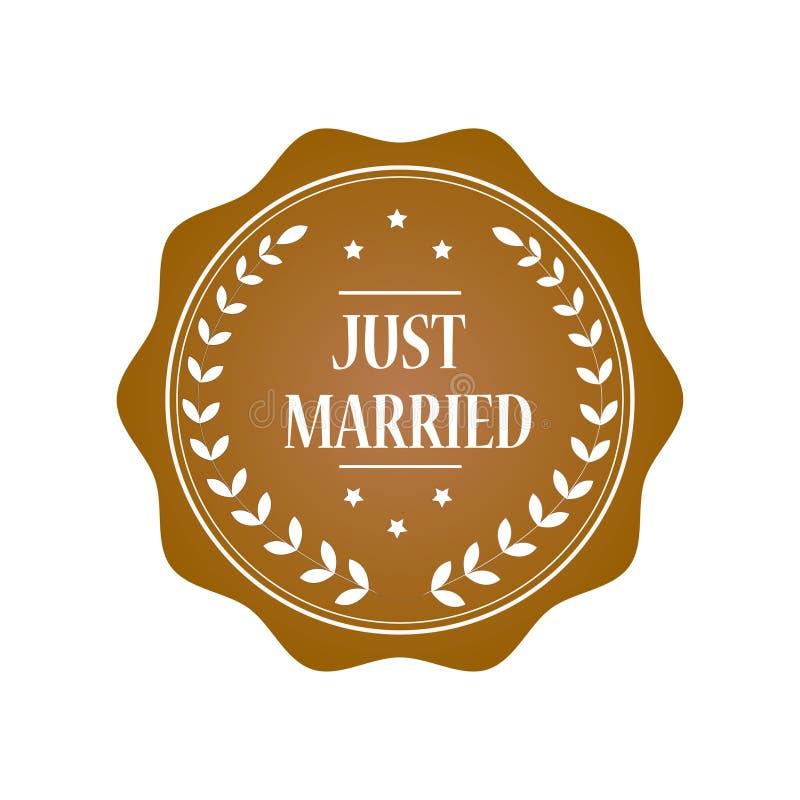 Gerade verheiratete Stempelillustration lizenzfreie stockbilder