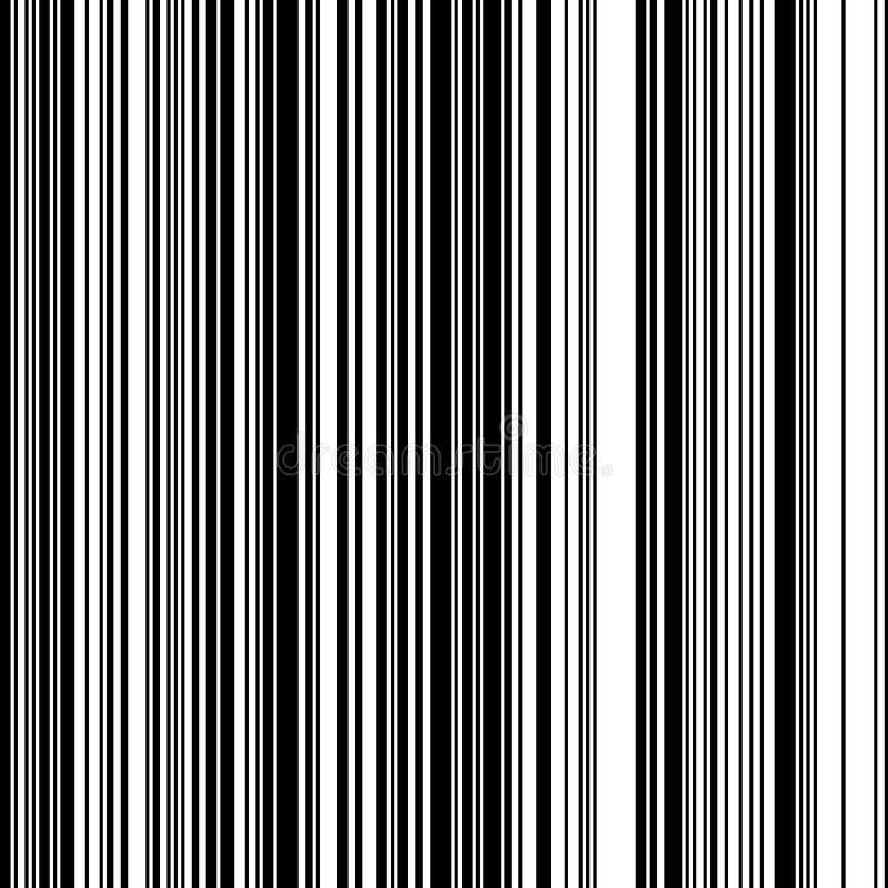 Gerade vertikale variable Breiten-Schwarzweiss-Streifen lizenzfreie abbildung