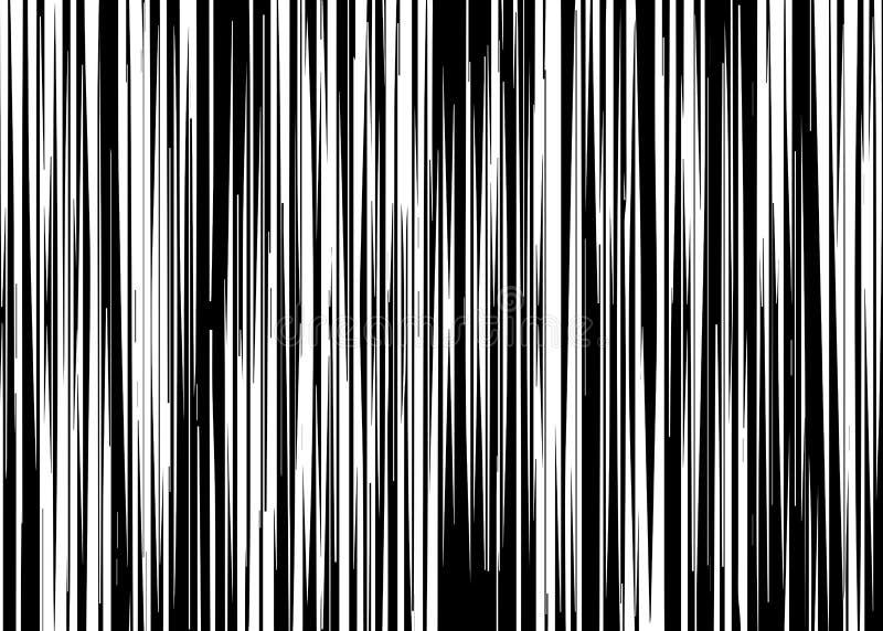 Gerade vertikale variable Breiten-Schwarzweiss-Streifen, einfarbige Linien kopieren, vertikal Linie, gerade parallele Vertikale lizenzfreie abbildung
