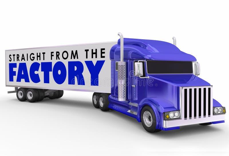 Gerade vom Fabrik-LKW-Anhänger, der die Produkte entsetzlich liefert vektor abbildung