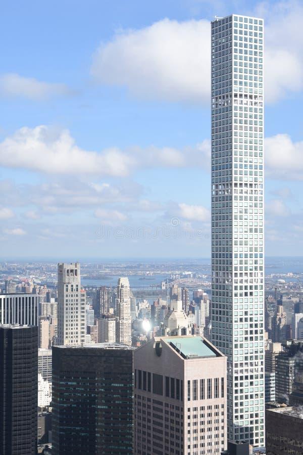 Geraden von New- Yorkskylinen stockbilder