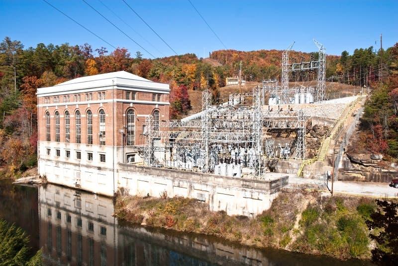 Gerador da central energética foto de stock