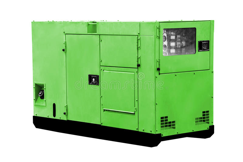 Gerador de poder diesel foto de stock