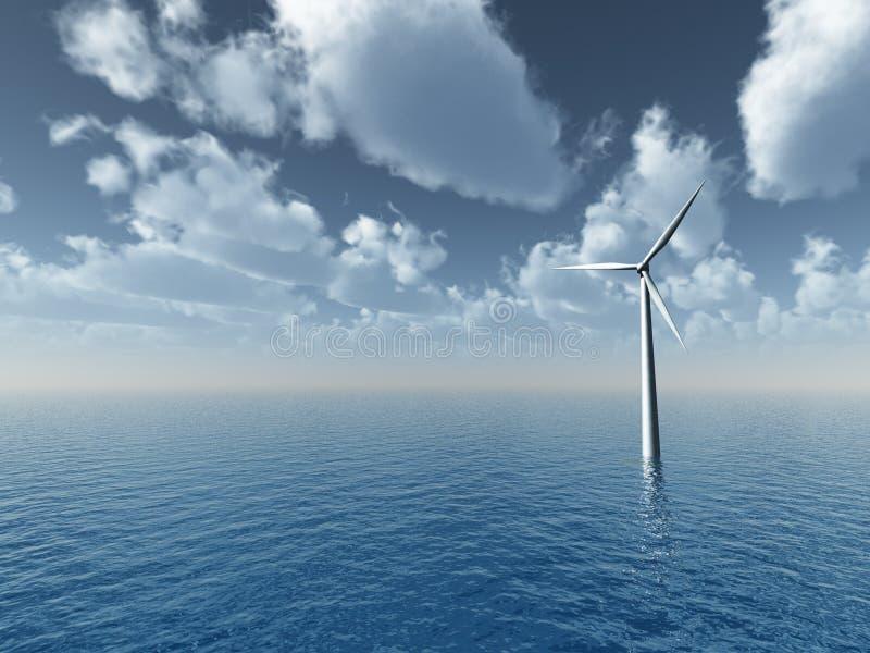 Gerador de vento ilustração stock