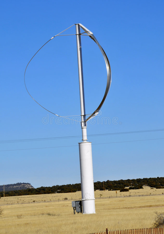 Gerador de vento moderno imagem de stock