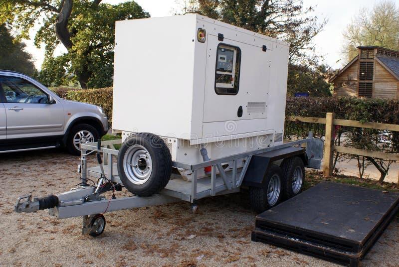 Gerador diesel móvel em um reboque imagens de stock royalty free
