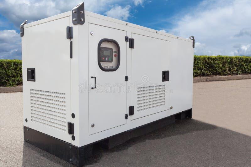 Gerador diesel móvel para a energia elétrica da emergência imagem de stock