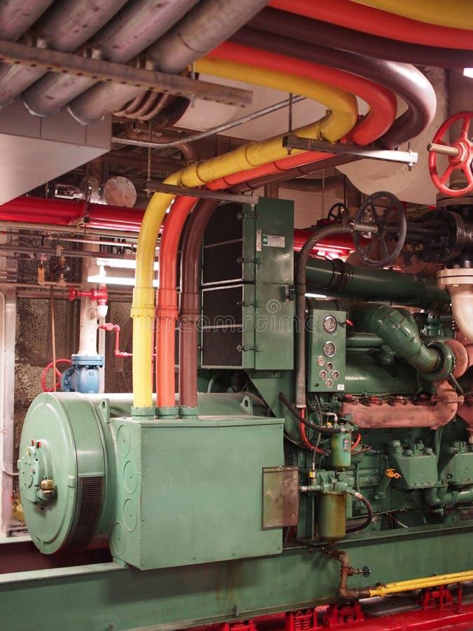 Gerador do diesel da emergência fotos de stock