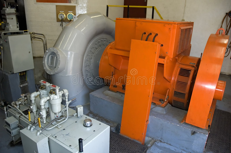 Gerador a energia hidráulica fotografia de stock
