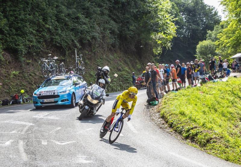 Geraint Thomas - le gagnant du Tour de France 2018 photo libre de droits