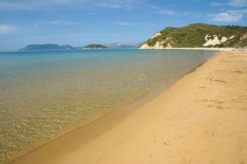 Gerakas beach stock photo