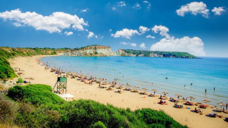 Gerakas plaża na Zakynthos wyspie, Grecja zdjęcia royalty free
