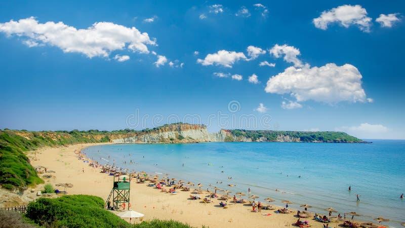 Gerakas plaża na Zakynthos wyspie, Grecja obrazy stock