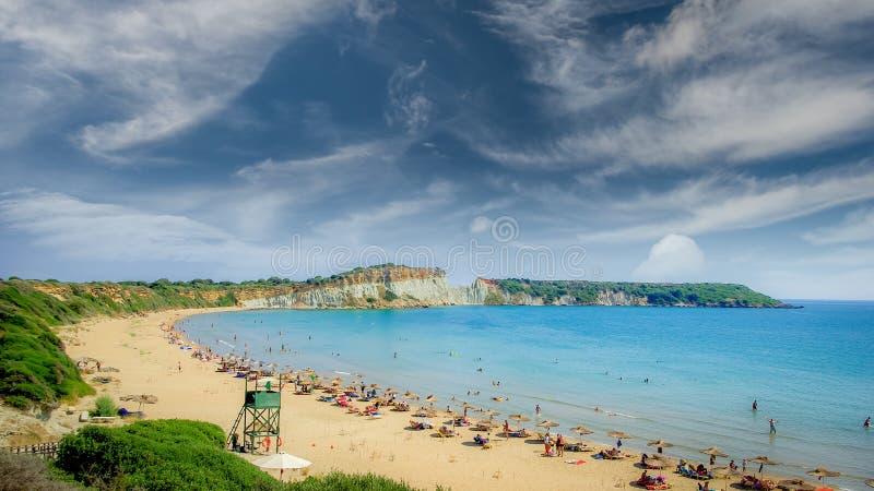 Gerakas plaża na Zakynthos wyspie, Grecja obrazy royalty free