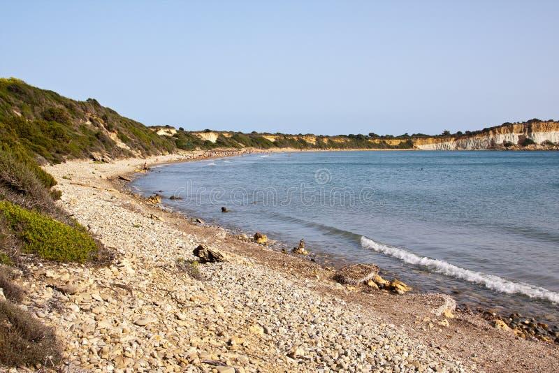 Gerakas plaża - Zakynthos wyspa fotografia stock