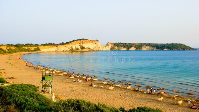 Gerakas plaży Zakynthos wyspa, Grecja obraz stock
