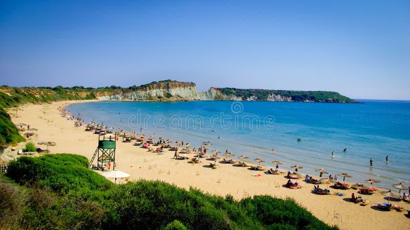 Gerakas plaży Zakynthos wyspa, Grecja obraz royalty free