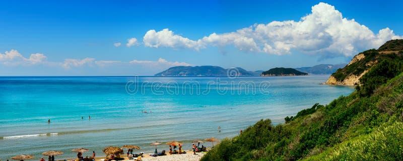 Gerakas-Strand auf Zakynthos-Insel, Griechenland lizenzfreies stockbild