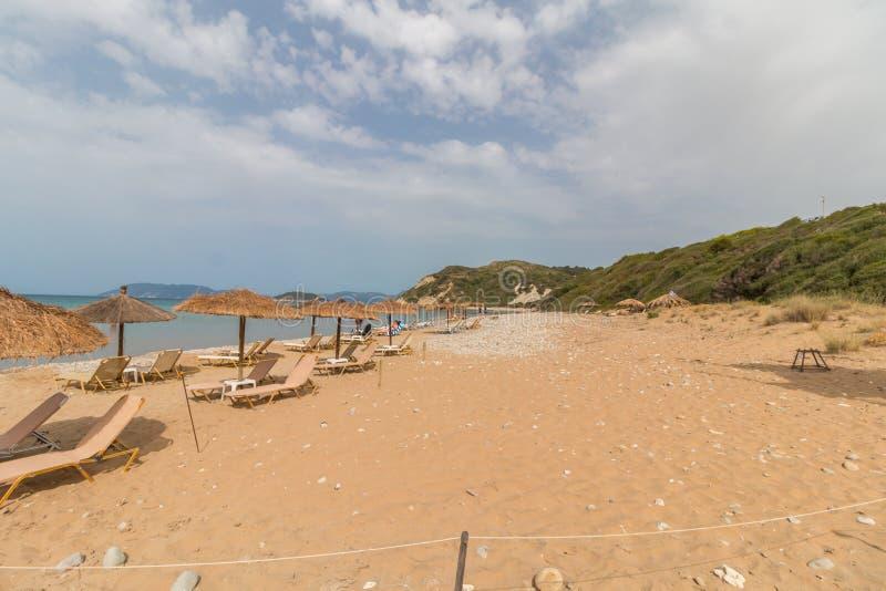 Gerakas-Strand in Zakynthos, Griechenland lizenzfreie stockfotos