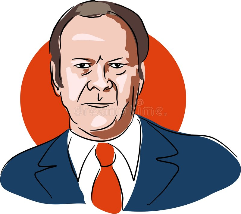 Gerald Ford stock illustratie